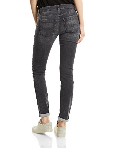 Street One Denim-Jane, Casualfit, Mw, Slimleg, Jean Coupe Ajustée Femme Grau (Dark Grey Random Bleach 11106)