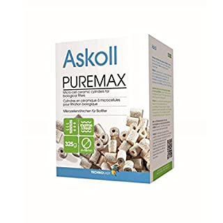 Askoll PureMax ceramic cylinder with micro-cells for biological filters for aquariums, 325 g.