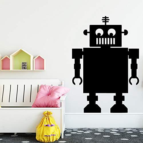 zqyjhkou Kreative Roboter Kindergarten Wandaufkleber Für Wohnzimmer Kinderzimmer Vinyl Kunst Aufkleber Für Kühlschrank Aufkleber Wandbild L 43 cm X 61 cm -