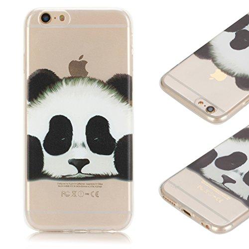 iPhone 6s Cover, CaseLover Custodia per iPhone 6 6S Neo Design Silicone Carina Last Resistant Slim TPU Gel Flessibile Bumper Morbido Antigraffio Phone Protector - panda