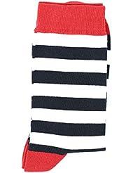Rayée large marine/blanc/rouge - Chaussettes HUBLOT