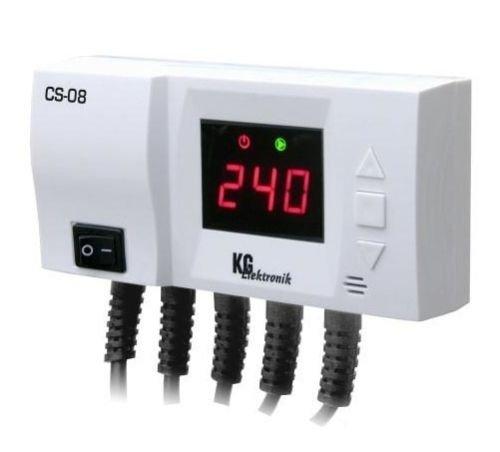 Temperaturdifferenzregler Steuerung CS-08 für Pumpe Vorlauf + Pufferspeicher