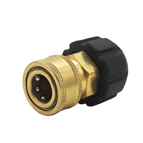 Futureyun TWIS285 Schnellverbinder NPT auf M22 14 mm metrisches Armatur für Hochdruckreiniger-Pistole und Schlauch, 0,95 cm