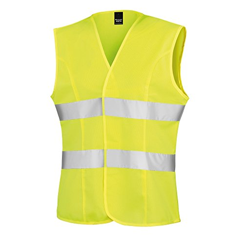 result-womens-ladies-reflective-safety-tabard-xs-fluorescent-yellow