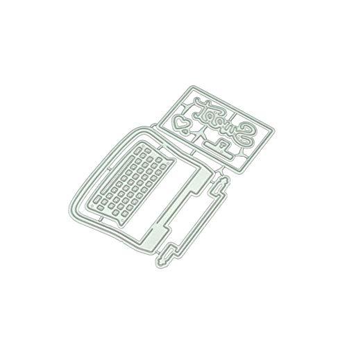 zmigrapddn Schreibmaschine aus Karbonstahl zum Basteln, Prägen, Album, Scrapbooking, Dekoration für Karten silber
