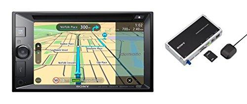 Sony XNV-KIT651 Highend Bundle aus XAV-W651BT 15.74 cm Moniceiver und XA-NV400 Tomtom Navigation Modul/Beleuchtung schwarz/Mehrfarbig Navigation Modul