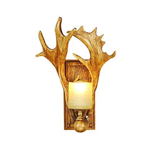 Amerikanische kreative Geweih-Wand-Lampe, einfaches Wohnzimmer-Schlafzimmer-Nachtwand-Geweih-Dekorations-Nachtlicht, Treppenhaus-Korridor-Gang-Wand E14 führte Lichtquelle-Lampen