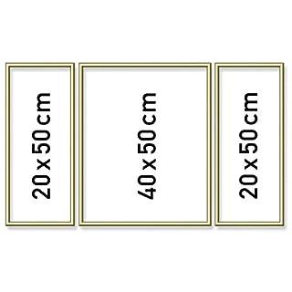 Schipper 605140707 Malen nach Zahlen Triptychon-Alurahmen, Gold