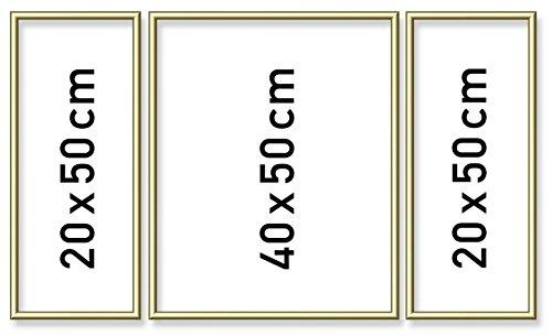 Schipper 605140707 - Malen nach Zahlen Triptychon Alurahmen, 50 x 80 cm, gold