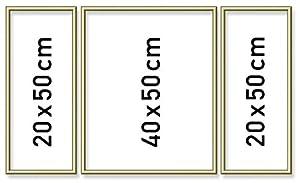 Schipper 605140707 Cuadro por números tríptico marco de aluminio, oro