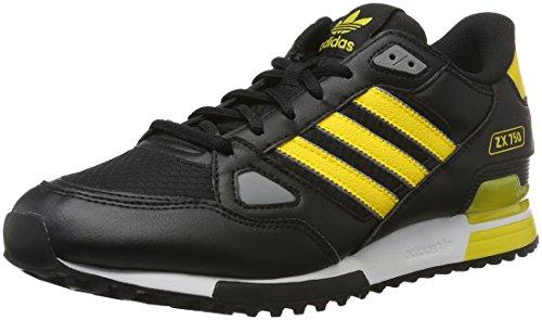 Adidas Zx 750, Scarpe da Ginnastica Uomo, Nero (Cblack/Eqtyel/Chsogr), 41 1/3 EU