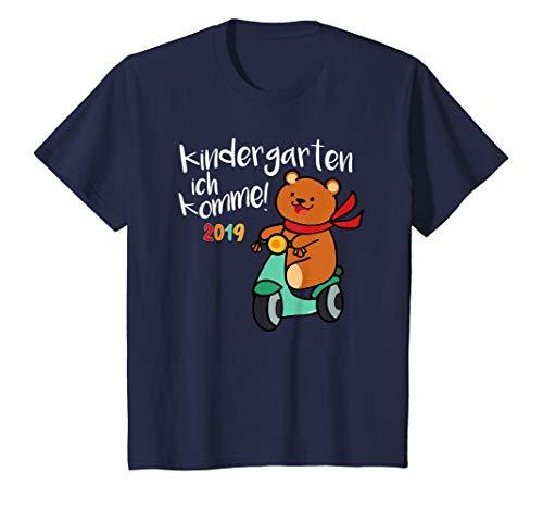 Kinder Kindergarten 2019 T-Shirt Start Anfang Geschenk Bär Roller