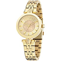 Just Cavalli Just Florence Women's Quartz Watch with Gold Dial Analogue Display and Blue Stainless Steel Strap R7253149501