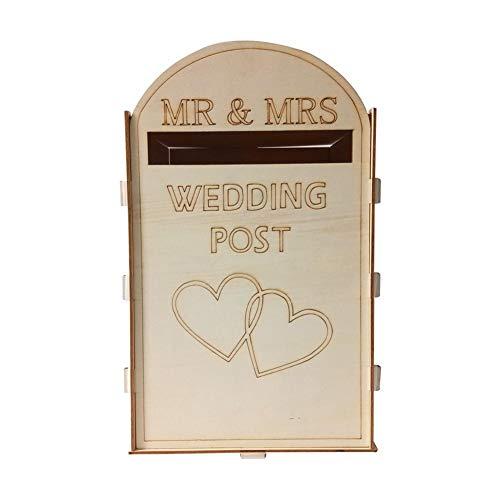 Flying Light Royal Mail im Stil personalisierte Hochzeitskarte Briefkasten, zusammengebaute Karten Box Home Decor für Hochzeit Geburtstag Graduationen (A)