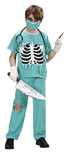 Skull Costume Kid (Children's Scary Surgeon Costume Medium 8 to 10 yrs (140cm) for ER GP Hospital Fancy)