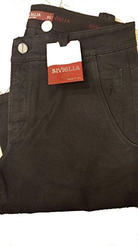 jeans siviglia uomo nero pantalone