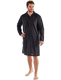 Poly coton pyjama, chemise de nuit, Pyjamas, robes, Shorts noir/rouge hommes