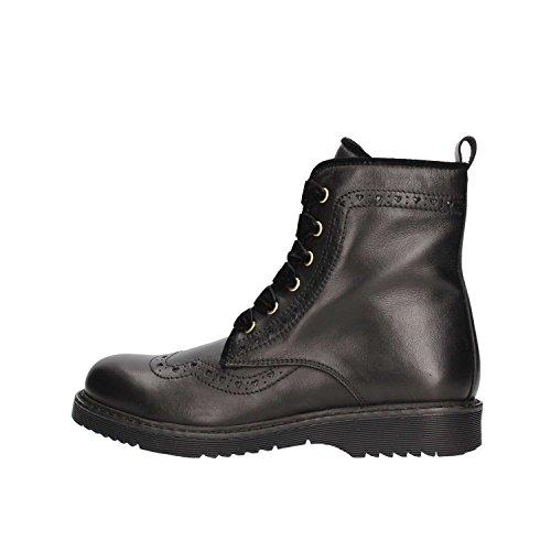 81c5b94db5230 TWIN-SET - Botte noire à lacets en cuir