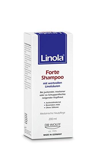 Psoriasis Der Kopfhaut (Linola Forte Shampoo 200 ml - für juckende, trockene oder zu Schuppenflechte neigende Kopfhaut)