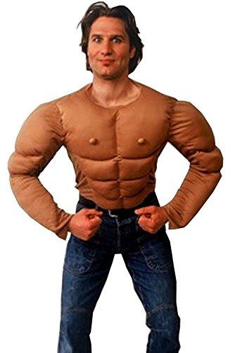 Muskel Kostüm hautfarben für Herren | Einheitsgröße| 1-teiliges Muskelprotz Kostüm für Karneval | Muskelpaket Faschingskostüm für (Kostüm Mann Lustige Muskel)