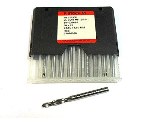 LEBONDO - 10 Stück Mehrfasen-Stufenbohrer 90° Ø4,50 x 3,50 mm 58 x 27 HSS - original von STOCK