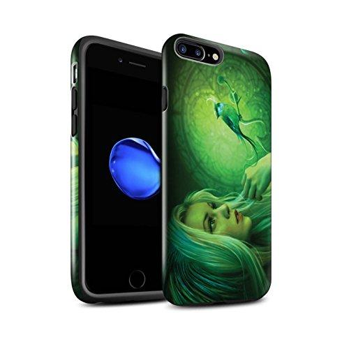 Officiel Elena Dudina Coque / Brillant Robuste Antichoc Etui pour Apple iPhone 8 Plus / Pack 18pcs Design / Les Oiseaux Collection Oiseaux Libres/Vitrail