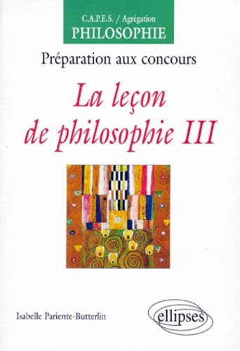 La leçon de philosophie, III