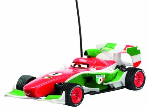 Dickie-Spielzeug 203089504 - Disney Cars 2 - RC Francesco, 2-Kanal Funkfernsteuerung, 27 oder 40 MHz (sortiert), Maßstab 1:24, 19 cm, blau/weiß/grün