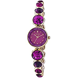 Monsoon Women's Quartz Watch with Pink Dial Analogue Display and Pink Bracelet MO4020