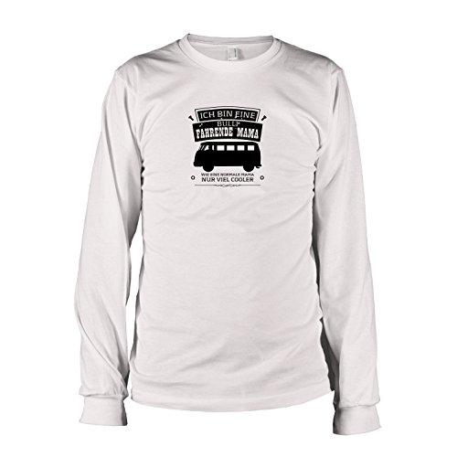 TEXLAB - Ich bin eine Bulli fahrende Mama - Langarm T-Shirt, Herren, Größe XL, weiß (Salzstreuer Kostüm)