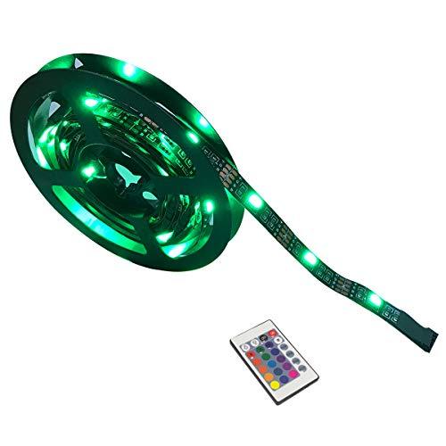 Yasolote, RGB LED Streifen, 60 LED 2M Dimmer LED Strip, Besteht aus Vier Zerlegbar Flexible LED Lichtband, Farbwechsel mit 24 Tasten IR Fernbedienung, Deko LED Band für HDTV, Fernseher und Desktop-PC, Flüssigkristallanzeige, Zimmerbeleuchtung
