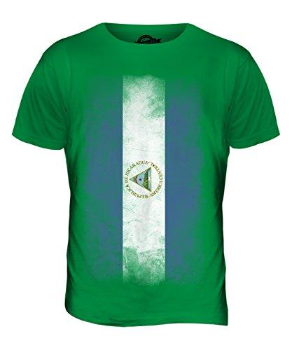 CandyMix Nicaragua Verblichen Flagge Herren T Shirt Grün