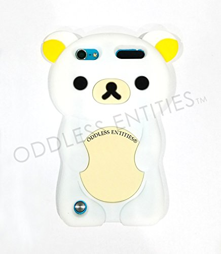 Schutzhülle für iPod Touch 5. / 6. Generation, Silikon, 3D-Design Teddybär Rilakkuma, Weiß - Ipod Rilakkuma