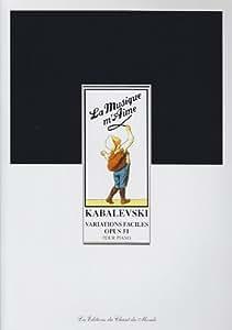 CHANT DU MONDE KABALEVSKI - VARIATIONS FACILES OP.51 - PIANO Partition classique Piano - instrument à clavier Piano