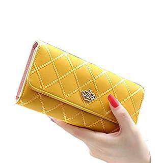 Stybelle Women Clutch Long Purse Leather Wallet Card Holder Handbag Bags (Yellow)