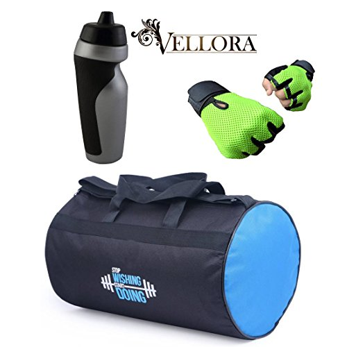 VELLORA Polyester Long Lasting Material, Duffel Gym Bag Orange With Penguin Sport Sipper, Gym Sipper Water Bottle... - B07F2HPYR2