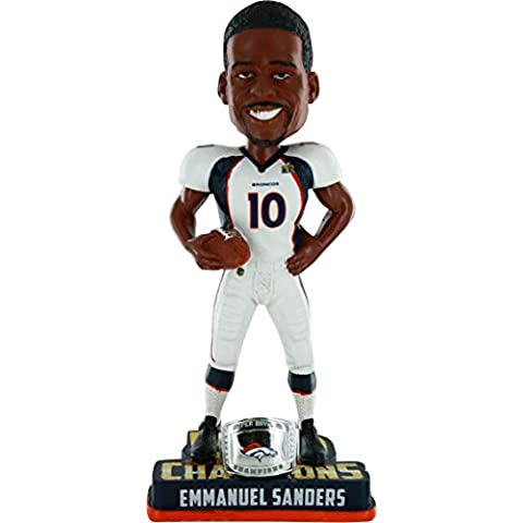 NFL Denver Broncos Emmanuel Sanders #10 Super Bowl 50 Champions Bobble Head Toy, One Size, White by Forever Collectibles