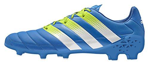 adidas Herren Ace 16.1 FG/AG Leather Fußballschuhe Azul / Verde / Blanco (Azuimp / Seliso / Ftwbla)