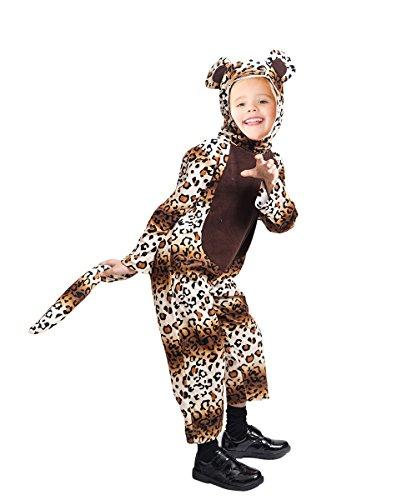 Leoparden-Kostüm, F127 Gr. 98-104 für Kinder, Leoparden-Kostüme für Fasching Karneval, Leopard Klein-Kinder Karnevalskostüme, Kinder-Faschingskostüme, Geburtstags-Geschenk