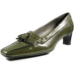 afis shoe-fashion 33757-161 Damen Schuhe Premium Qualität Pumps Grün (dunkelgrün) [EU 39.0]