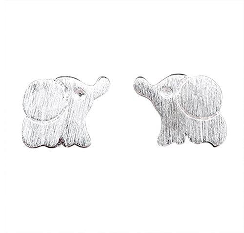 Kanggest Pendientes Plata Mujer Niña Botón Aretes