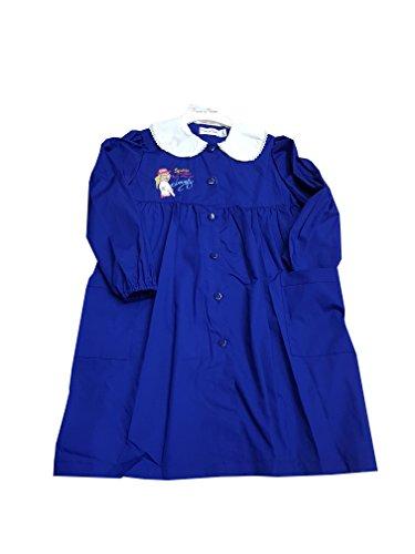 Primo della classe grembiule blu scuola elementare per bambina asilo (art. 8p102) (70-7 anni)