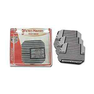 Home Equipement A94163 Friteuse Filtre Filtre Anti Odeur/Anti Graisse pour Friteuse Seb 792633 X3