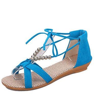 LvYuan Da donna-Sandali-Casual Formale-Comoda-Piatto-Finta pelle-Nero Blu Beige Arancione Black