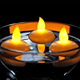 atcket (Jaune, pack of 12) battery Included Floating LED Tealight Waterproof Flameless Candle for Festival Party Wedding