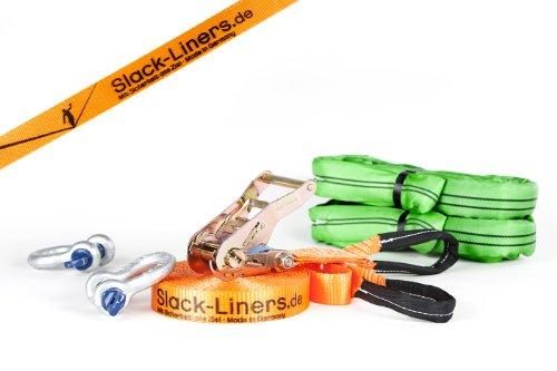 Slack-Liners Set, 15 m lang, 3,5 cm breit