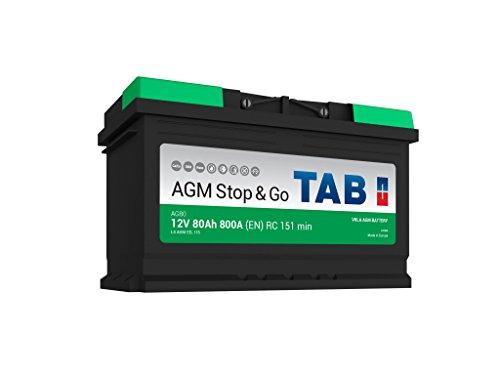 TAB Batterie Voitures Start Stop AGM AG80 L4 12 V 80AH 800 AMPS (en)