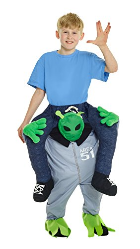 Morphsuits Mckpbal Alien Piggyback Kids Fancy Dress costume – Taglia unica