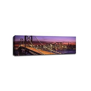 ArtsyCanvas San Francisco Bay Bridge Cityscape (48x16 Canvas), 48