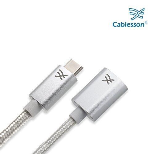 Cablesson Maestro USB C auf USB 3.0 A Weibliches Verlängerungskabel, für das Neue MacBook und mehr Typ C Geräte, 1,5m